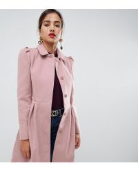 cheap for discount 43ae0 5b7f4 Damen Ausgestellter Mantel in Rosa in pink