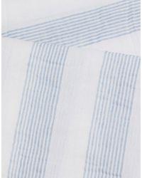 Шарф В Полоску -белый Lacoste для него, цвет: White