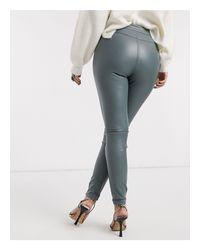 Pantalones moteros color salvia TOPSHOP de color Multicolor