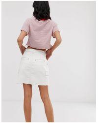 Falda utilitaria con bolsillo Hollister de color White