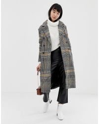 Manteau à carreaux Ichi en coloris Multicolor