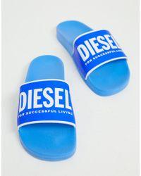 """DIESEL Slides """"VALLA"""" in Blue für Herren"""