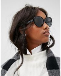 DKNY Black Oversized Sunglasses