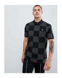 Polo con diseño G-Star RAW de hombre de color Black