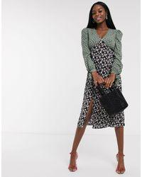 Платье Миди С Принтом -мульти Never Fully Dressed, цвет: Black