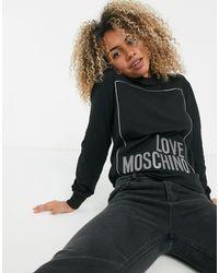 Черный Свитшот С Логотипом Love Moschino, цвет: Black
