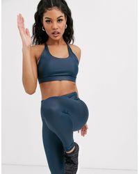 Темно-синий Спортивный Бюстгальтер С Мокрым Эффектом South Beach, цвет: Blue