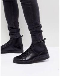 Черные Ботинки Из Искусственной Кожи ASOS для него, цвет: Black