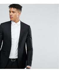 Noak Tall Super Skinny Suit Jacket In Black for men
