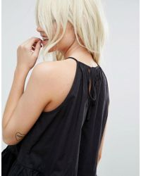 ASOS - Black Trapeze Sun Top In Cotton - Lyst