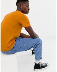 Camiseta de algodón pima SELECTED de hombre de color Orange