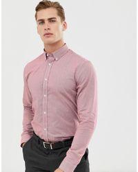 Рубашка В Клеточку Ben Sherman для него, цвет: Pink