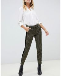 Pantalones de sastre a rayas Sisley de color Green