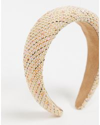 Serre-tête boucle - Crème pâle et rose Pieces en coloris Multicolor
