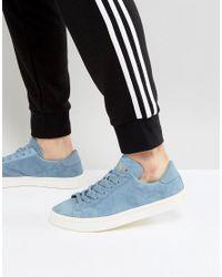 Adidas Originals Court Vantage Sneakers In Blue Bz0431 for men