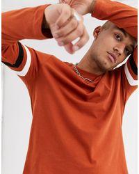 T-shirt a maniche lunghe di ASOS in Multicolor da Uomo