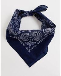 Foulard imprimé - Bleu marine Jack & Jones pour homme en coloris Blue