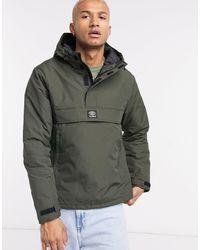 Pull&Bear Green Overhead Padded Jacket for men