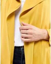Kingsley Ryan - Metallic Gold Plated Aquamarine Stone Ring - Lyst