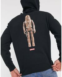 Levi's Black X Star Wars Chewbacca Sleeve And Back Print Hoodie for men