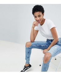 Jeans con spacchi alle ginocchia di Noisy May Tall in Blue