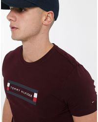 Tommy Hilfiger Multicolor Corp Box Logo T-shirt for men