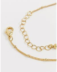 Collar chapado en oro Reclaimed (vintage) de color Metallic