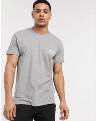 Camiseta gris con logo BOSS by Hugo Boss de hombre de color Gray