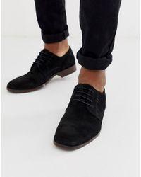Черные Замшевые Туфли С Натуральной Подошвой ASOS для него, цвет: Black