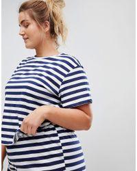 ASOS - Blue Breton Stripe Tee & Short Pyjama Set - Lyst
