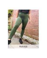 Leggings con tacto ASOS 4505 de color Green