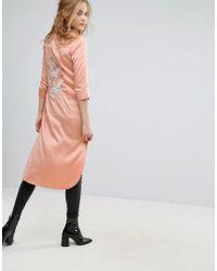 Glamorous Pink Long Line Shirt