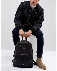 Кожаный Рюкзак С Карманом И Тисненым Логотипом Asos-черный ASOS для него, цвет: Black