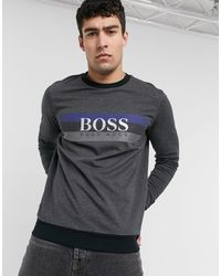 Темно-серый Свитшот BOSS by Hugo Boss для него, цвет: Gray