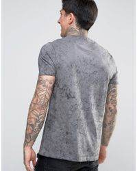 ASOS - T-shirt In Gray Wash for Men - Lyst