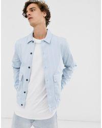 Topman Blue Overshirt for men