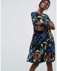 Y.A.S Black Floral Dress