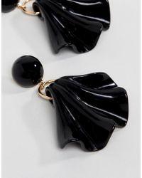 ASOS - Metallic Statement Folded Resin Drop Earrings - Lyst