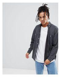 Camicia di jeans sovratinta di Cheap Monday in Gray da Uomo