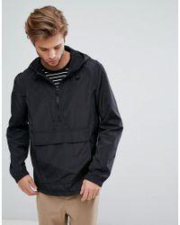 ASOS Overhead Hooded Jacket In Black for men