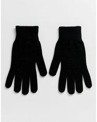 Gants ASOS pour homme en coloris Black