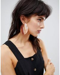 ASOS - Multicolor Earrings In Solid Resin Hoop Design - Lyst
