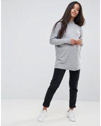 ASOS Gray Jumper In Silk Blend