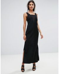 Finders Keepers Black Finders Luca Deep V Back Maxi Dress