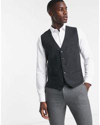 Серый Жилет В Елочку Premium Jack & Jones для него, цвет: Gray