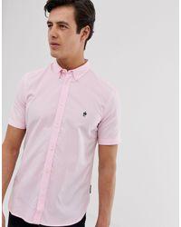 Chemise Oxford à manches courtes French Connection pour homme en coloris Pink