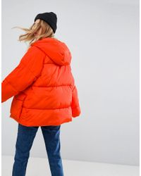 ASOS Orange Puffer With Pocket Detail