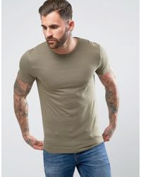 Bellfield Green Jacquard T Shirt for men