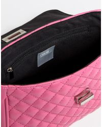 ASOS - Pink Quilted Lock Cross Body Bag - Lyst