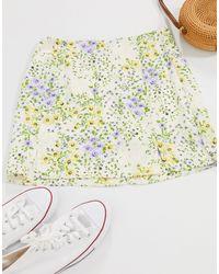 Minifalda con estampado Pimkie de color Multicolor